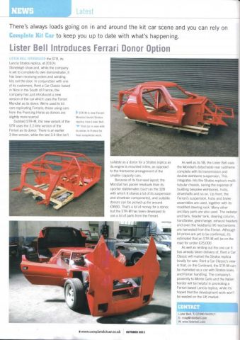 Complete kit car article ...